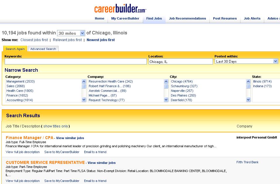 CareerBuilder, en Reclutando net