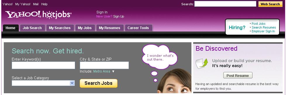 Yahoo! HotJobs, en Reclutando.net